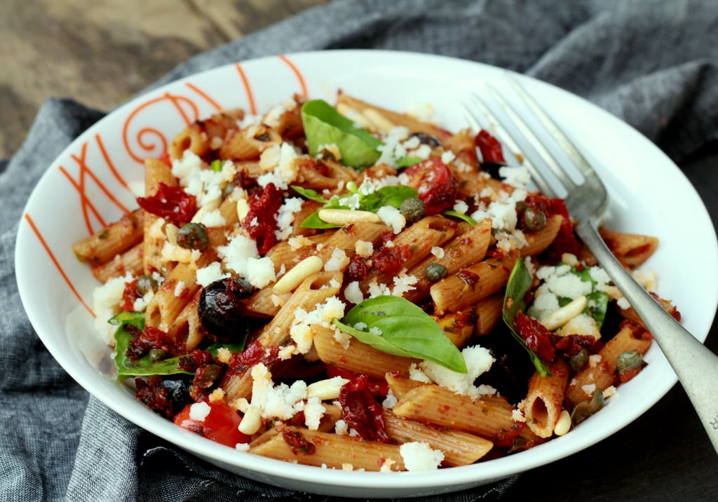 Sun Dried Tomato Penne Pasta Salad With Goat Cheese Recipe