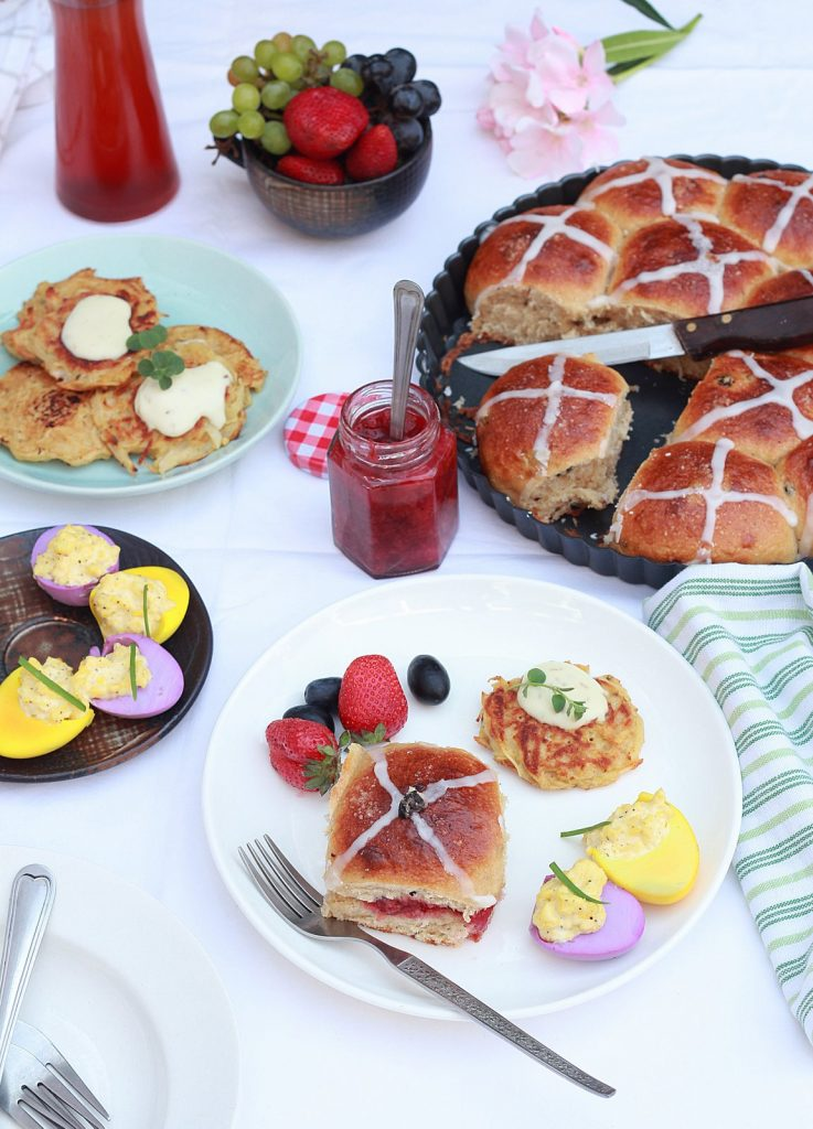 Easter breakfast spread